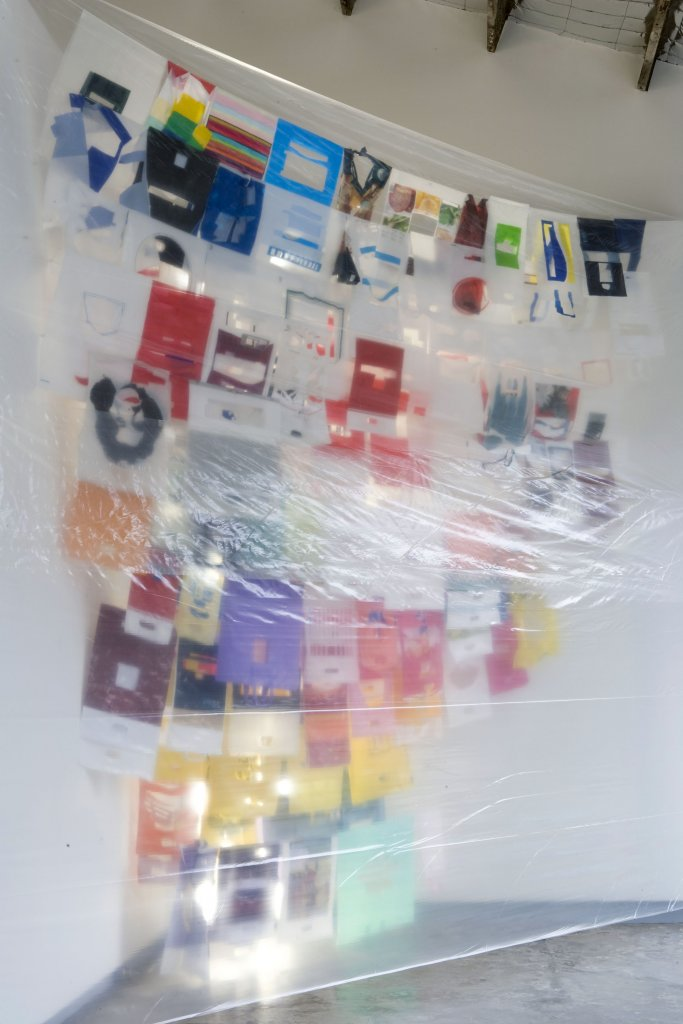 <p>Sarah Goffman <em>Refuse (reconfigured)</em> 2005 collected plastic bags, string, dimensions variable</p>