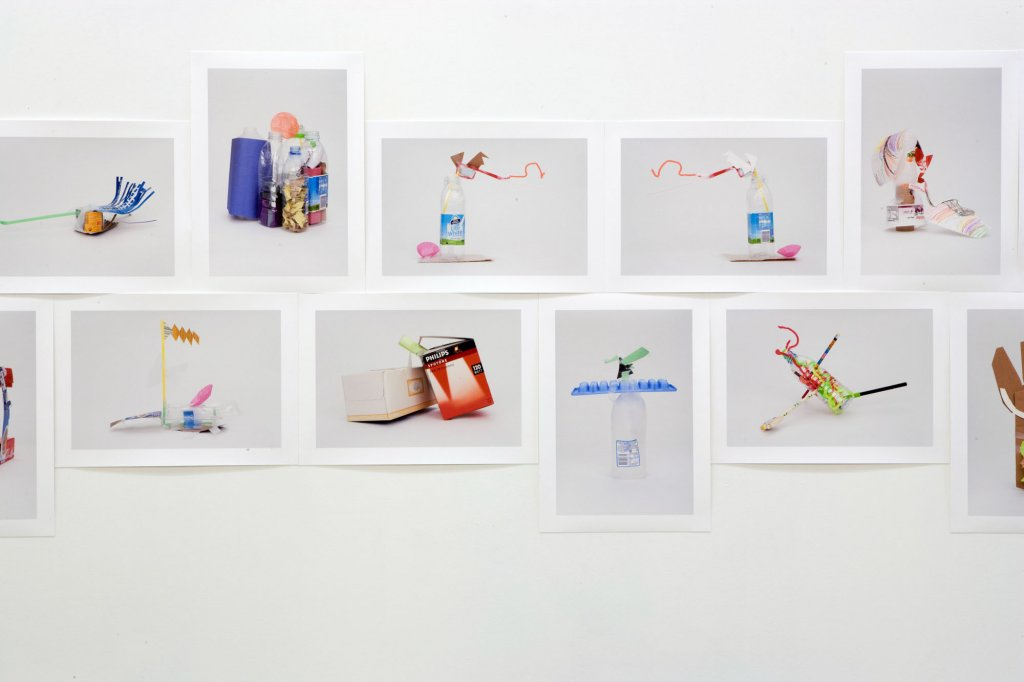 Debra Phillips <em>From the making box: a set of photographs by the artist of objects made by Ethan French, aged 3 (1–52)</em> (detail) 2006 pigment print on rag paper 42 x 30 cm and 30 x 42 cm