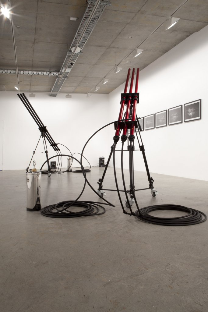 David Haines & Joyce Hinterding, installation view, <em>Orgasm</em>, 2012