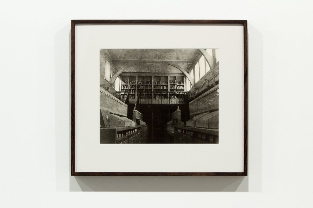 <div>Jane Brown, <em>Decommissioned Art History Library, University of Melbourne</em>, 2012–13, fibre-based, gelatin silver print, 50 x 49.5 cm frame, 33 x 27 cm, edition of 7</div>