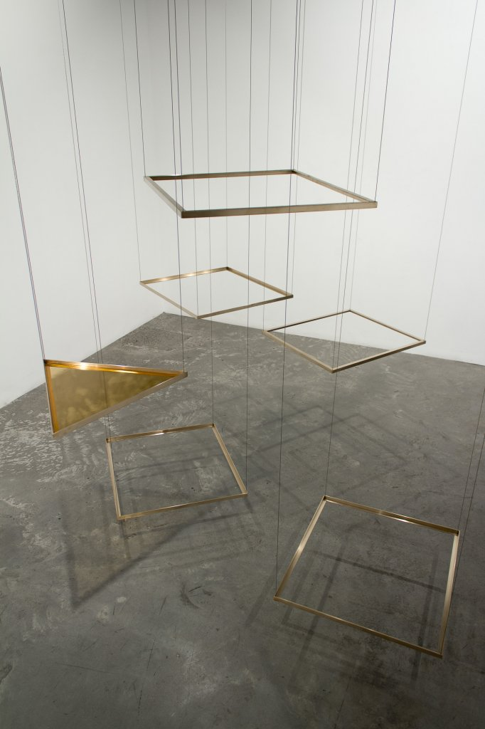 <div>Sarah Smuts-Kennedy, <em>Shape Analysis, -33.88 North/151.21 West</em>, 2013, brass, steel, dimensions variable</div>