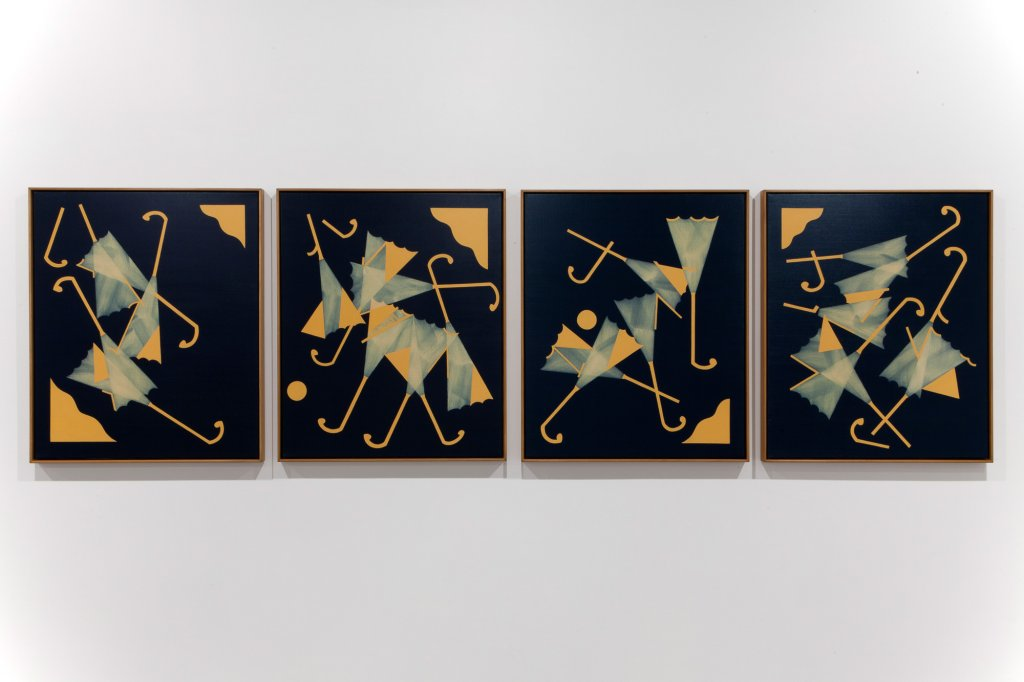 Mitch Cairns, <em> Big Summer </em> , 2013,   oil on linen, 4 panels 91 x 76 cm each <!--EndFragment-->