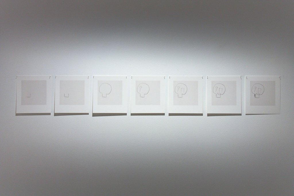 "<p class=""p1"">Prudence Murphy, <em>Skull in 7 movements</em>, 2011, 7 archival pigment prints, 14.5 x 13 cm each, edition of 5</p>"