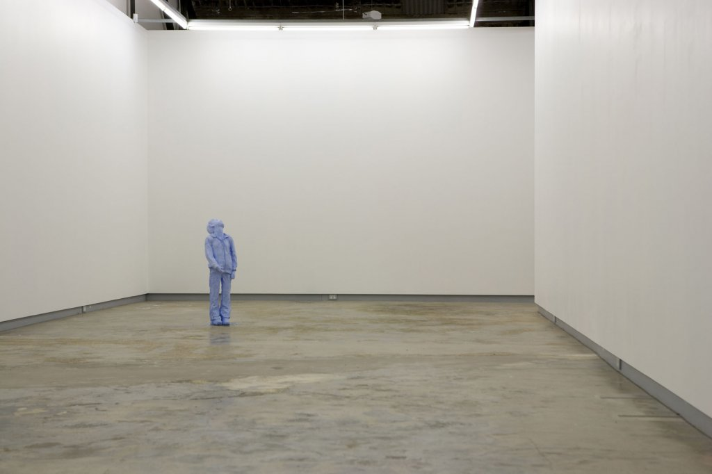 <p>Tim Silver, <em>Untitled (</em><em>Rory)</em>, installation view, 2010, watercolour pigment, initial dimensions 105 x 40 x 34 cm irregular</p>