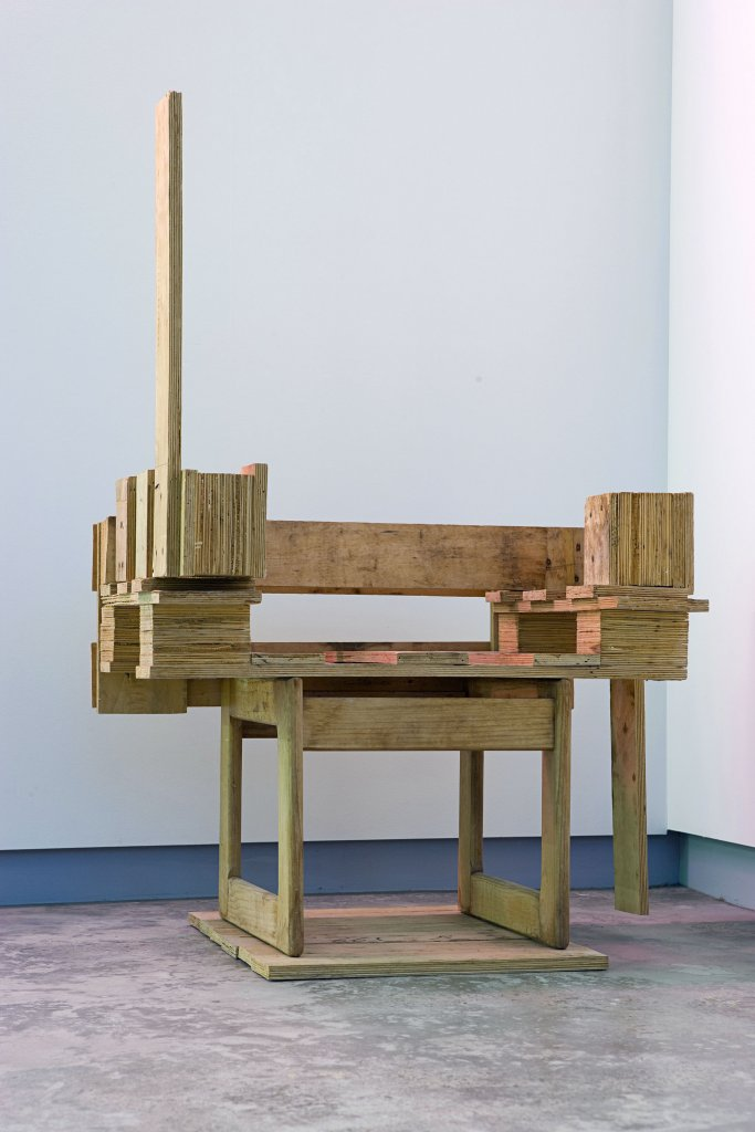 Vanila Netto <em>Crate chair (after Marcel)</em>      2008             recycled wood 70 x 72 x 45 cm